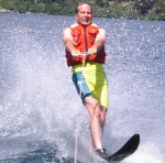 Mike waterskiing after surgery